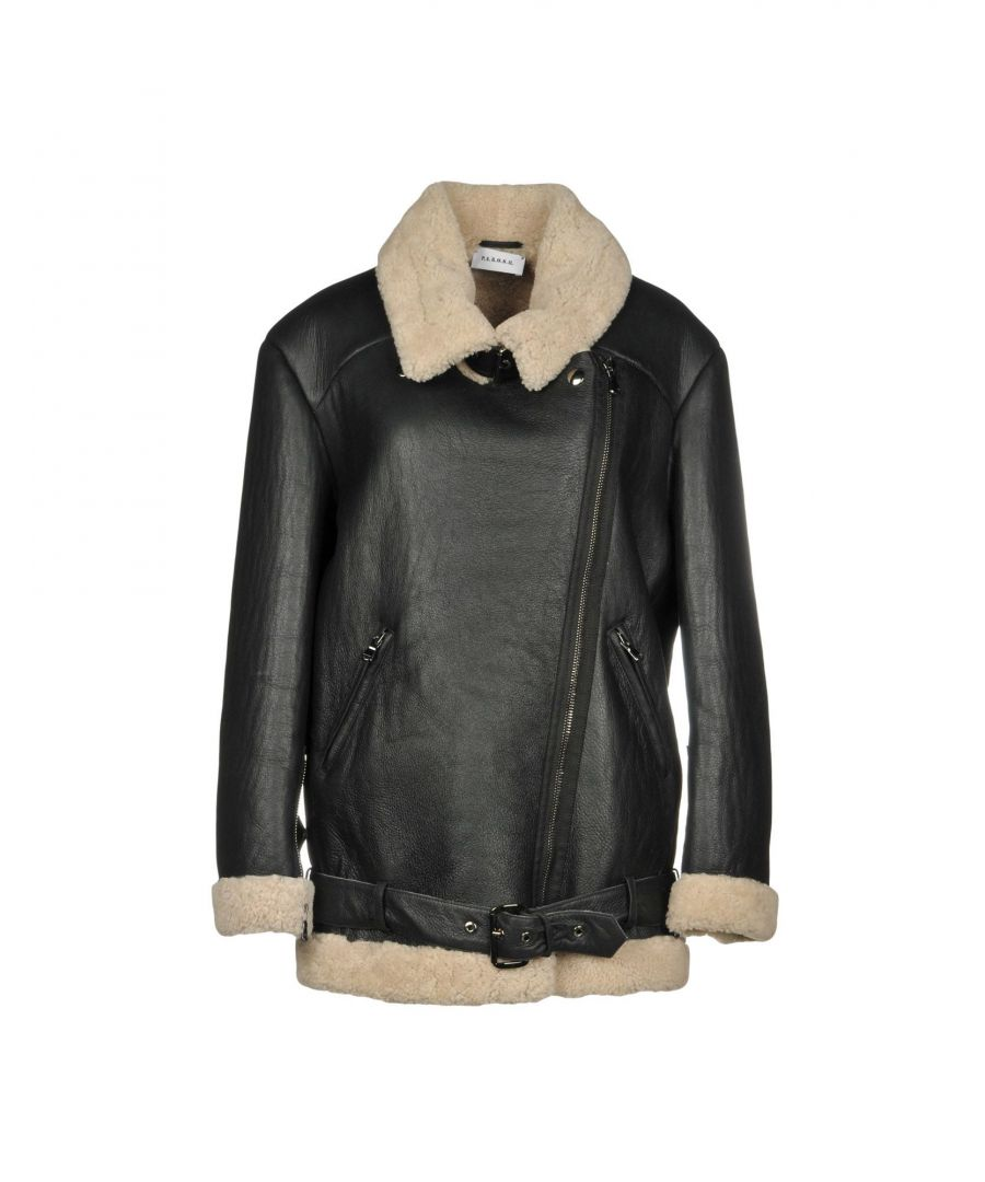 Image for P.A.R.O.S.H. Black Lambskin Leather Jacket