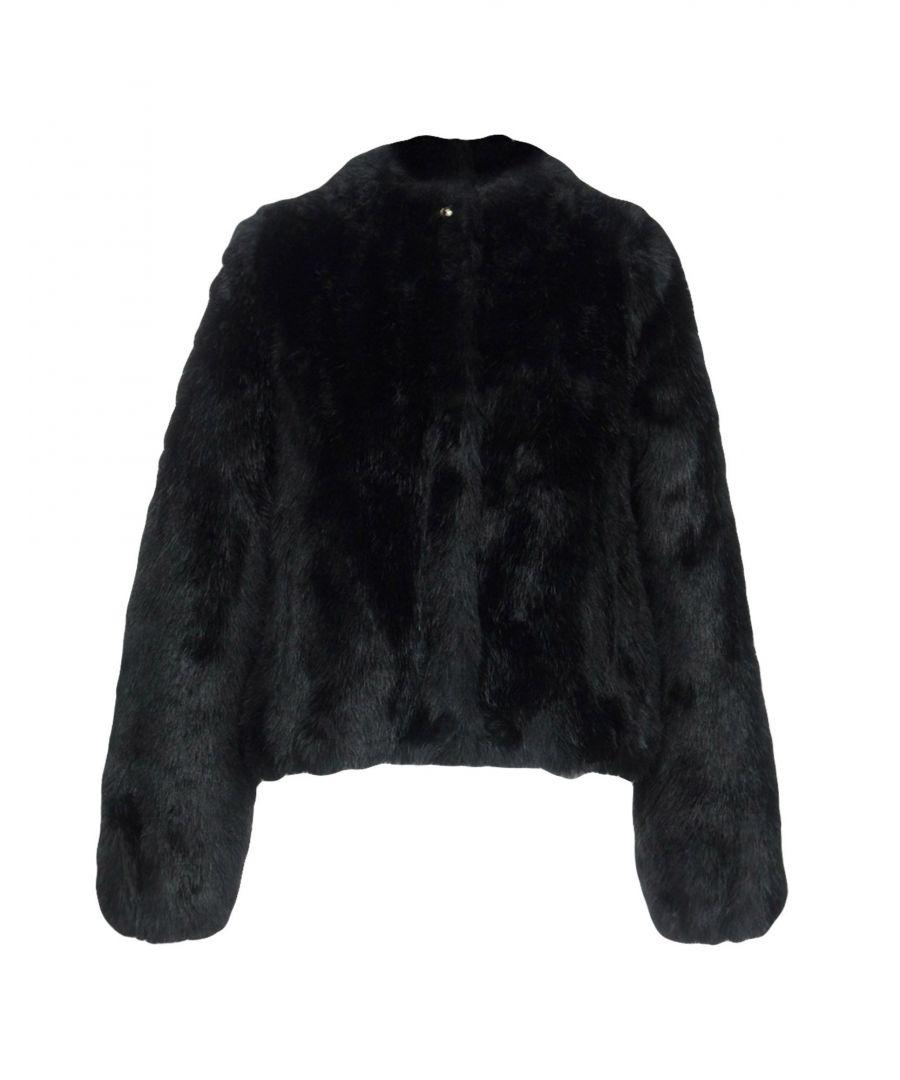 Image for Patrizia Pepe Black Faux Fur Jacket