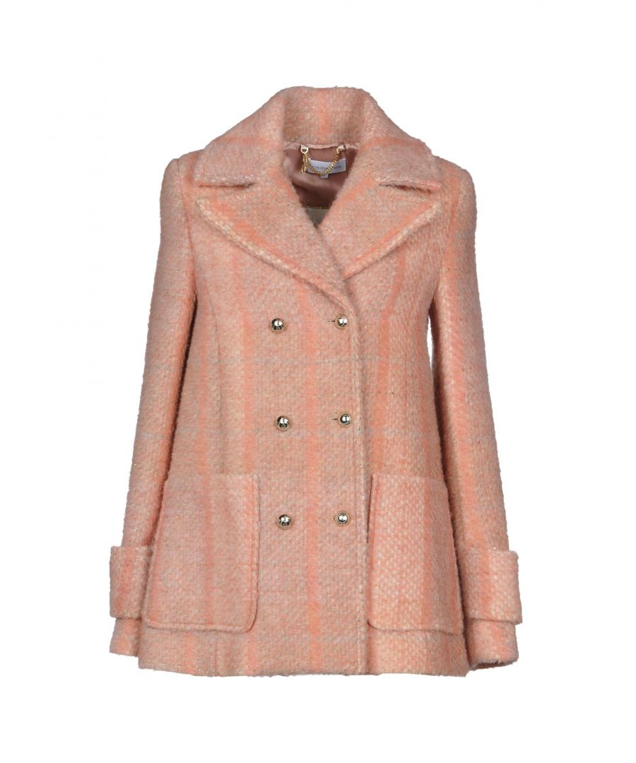 Image for Patrizia Pepe Pastel Pink Double Breasted Coat