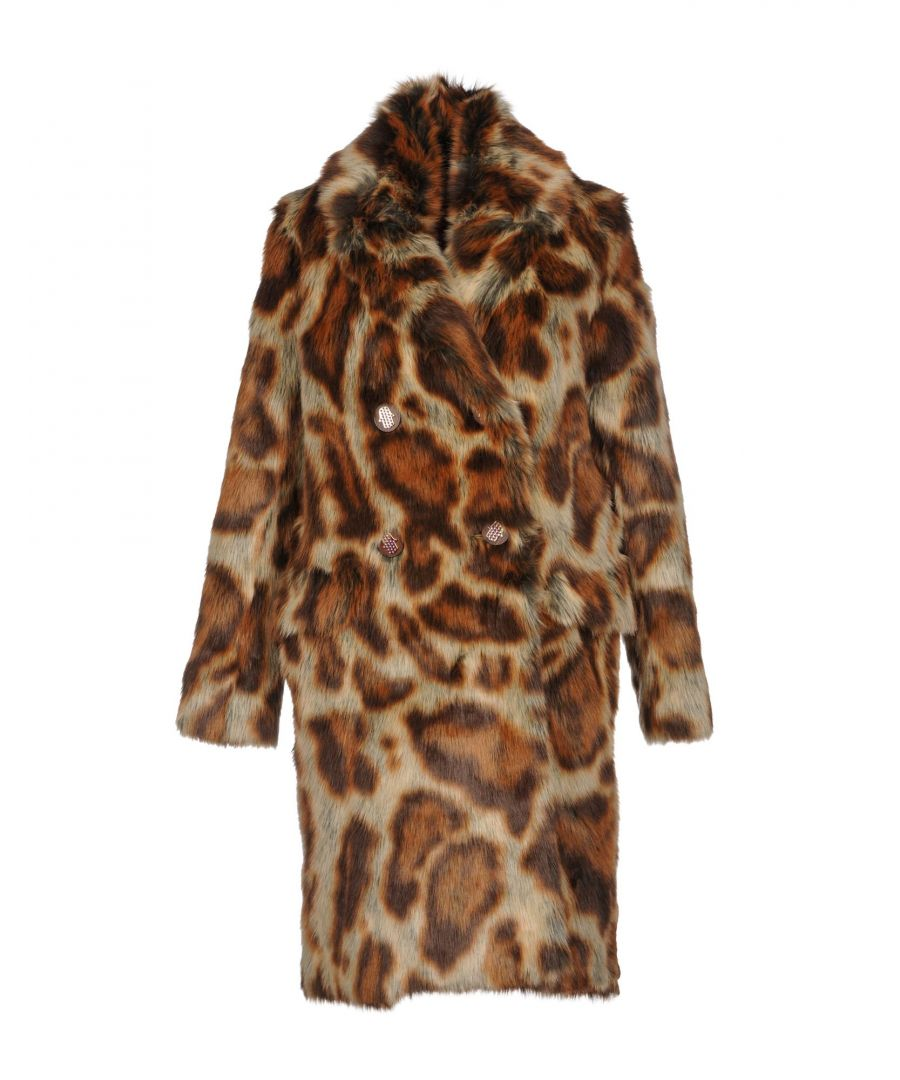 Image for Manoush Brown Print Faux Fur Coat