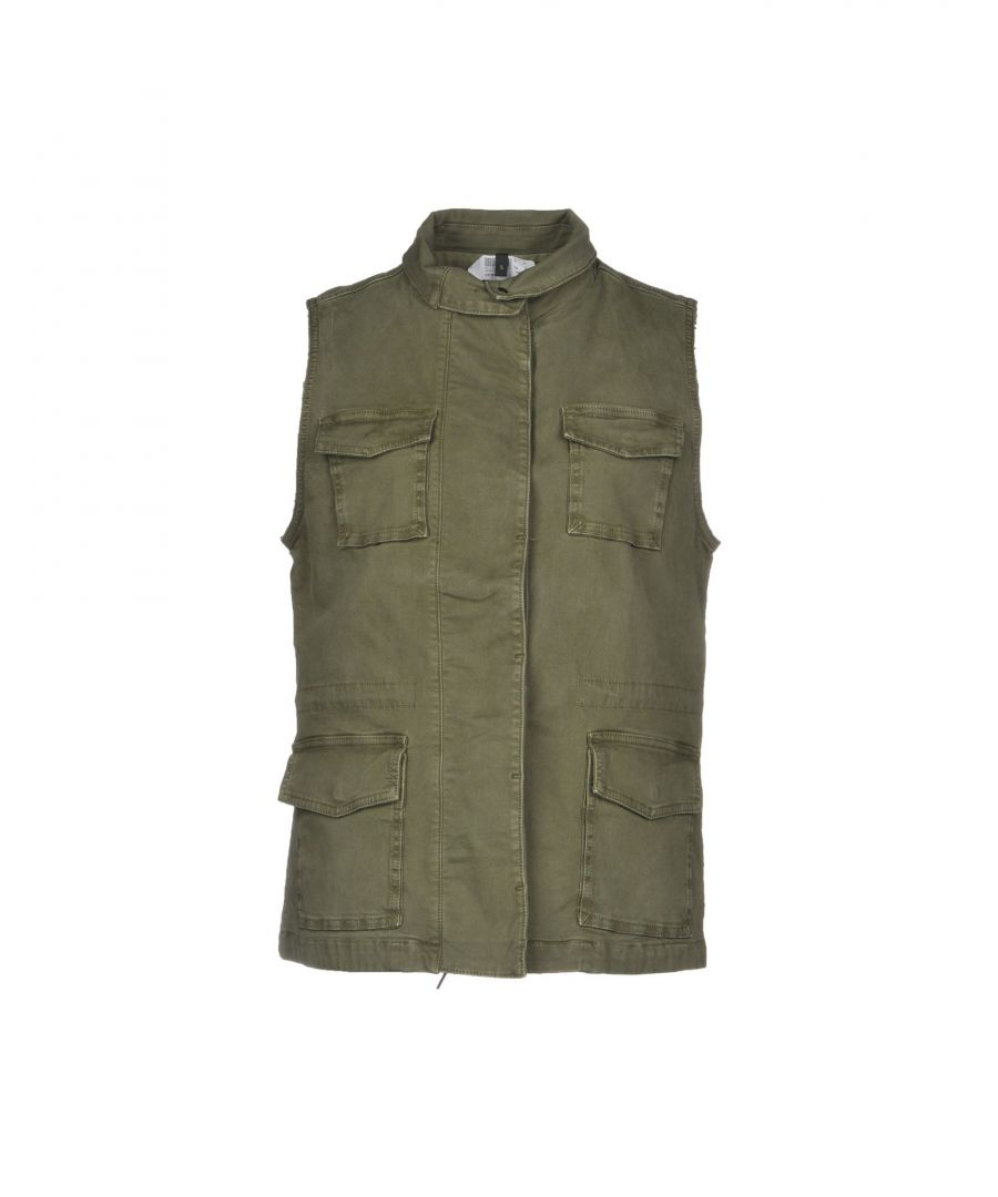 Image for J Brand Military Green Cotton Gilet
