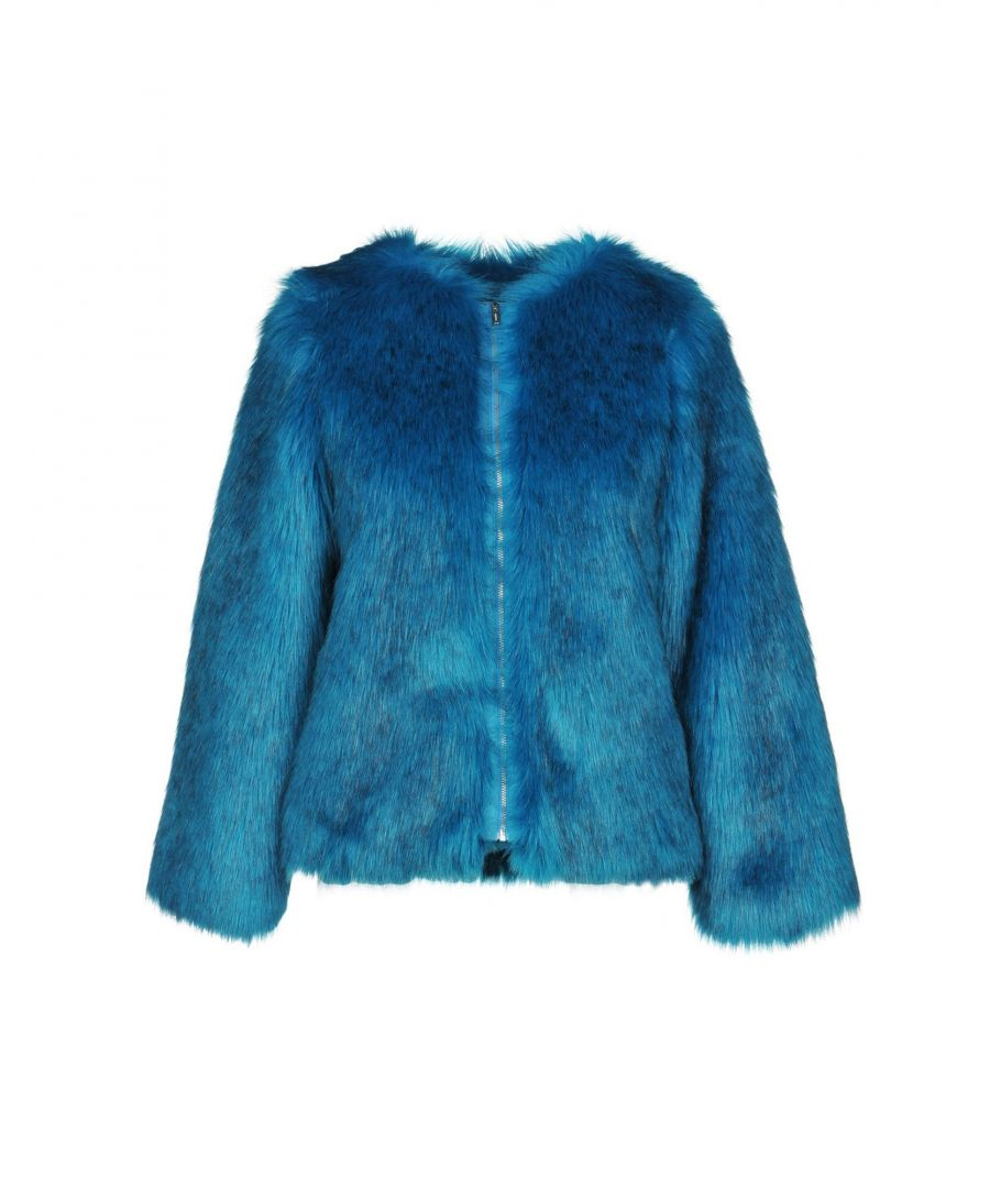 Image for Dondup Turquoise Faux Fur Jacket