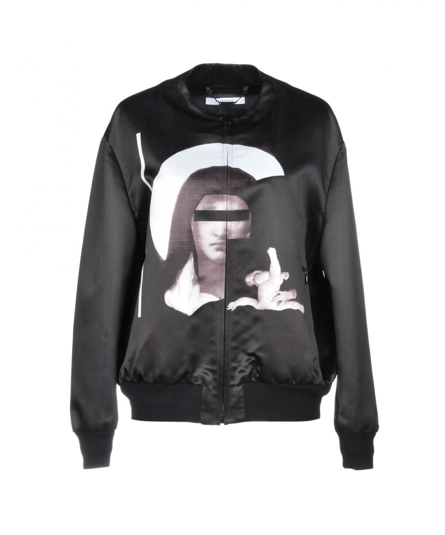 Image for Givenchy Black Print Satin Jacket