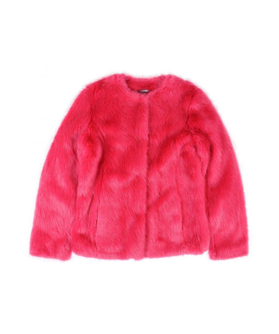 Image for John Richmond Girl Teddy coat Fuchsia Acrilyc