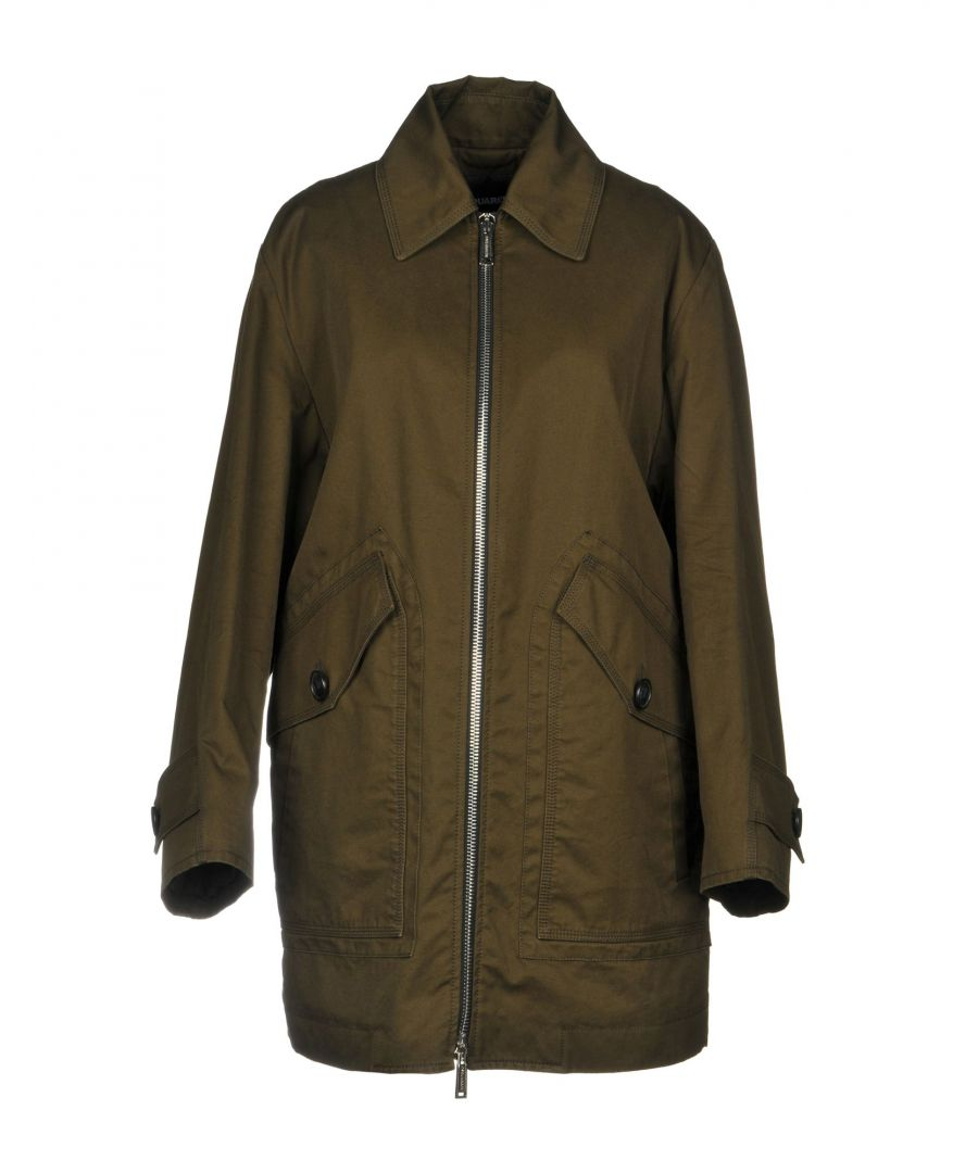 Image for Dsquared2 Woman Coats Military green Cotton