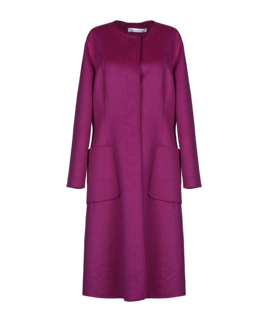 Image for Oscar De La Renta Purple Wool Coat