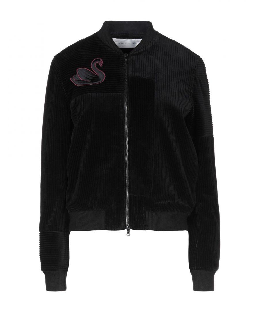 Image for Victoria, Victoria Beckham Black Cotton Velvet Bomber Jacket