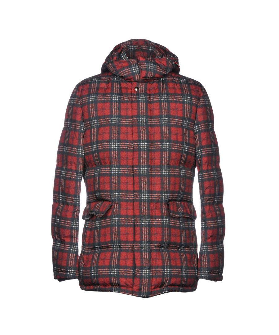 Image for Isaia Brick Red Synthetic Down Jacket