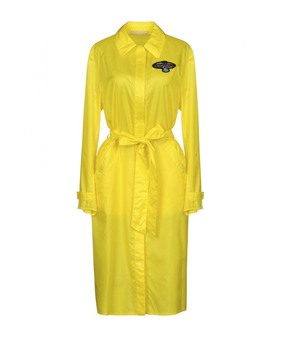 Image for Christopher Kane Yellow Techno Fabric Mackintosh Coat