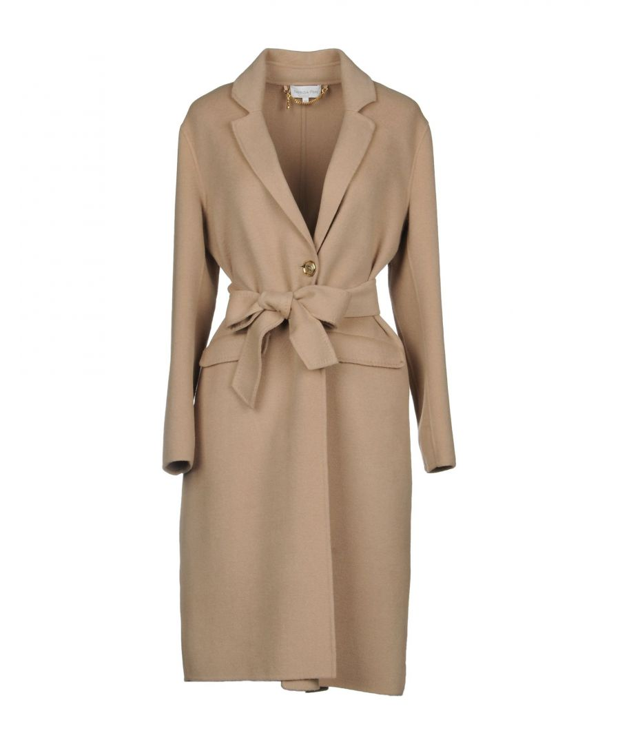 Image for Patrizia Pepe Beige Wool Belted Coat