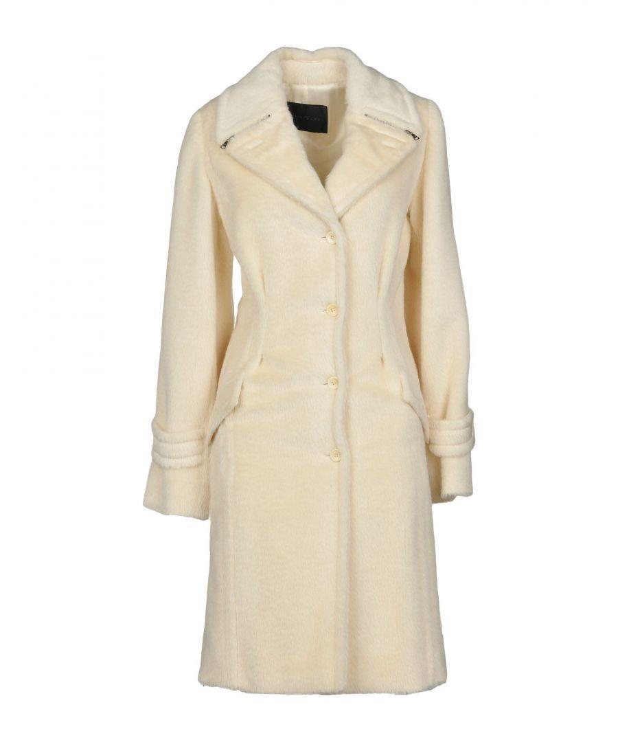 Image for John Richmond Ivory Alpaca Overcoat