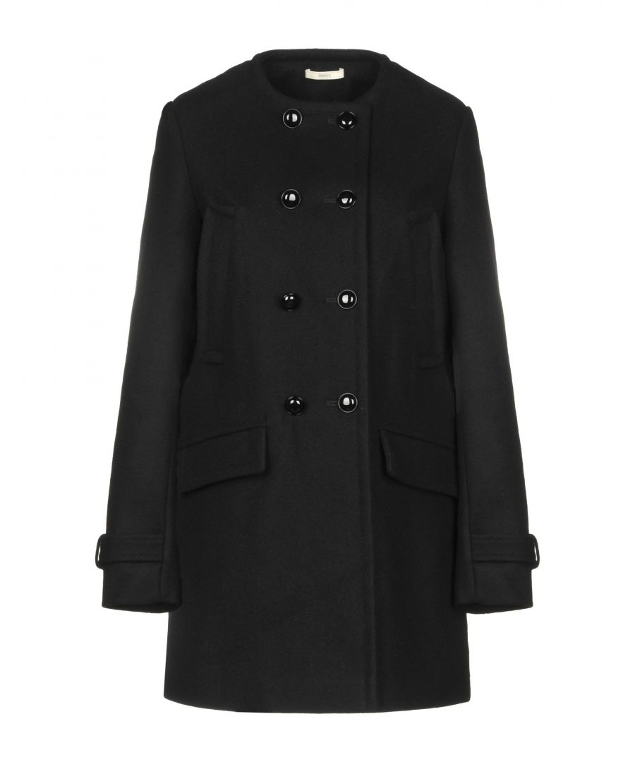 Image for Sessun Black Wool Double Breasted Coat