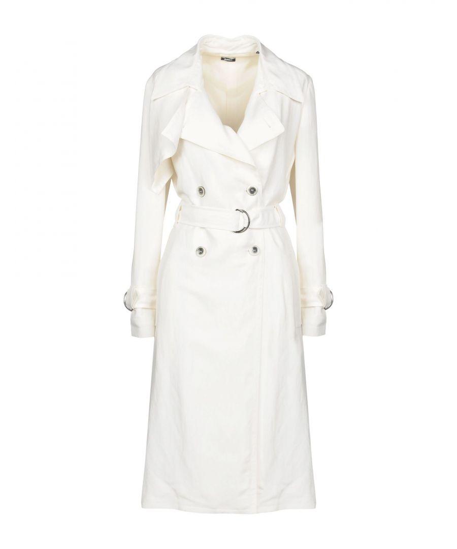 Image for Jil Sander Navy White Belted Trenchcoat