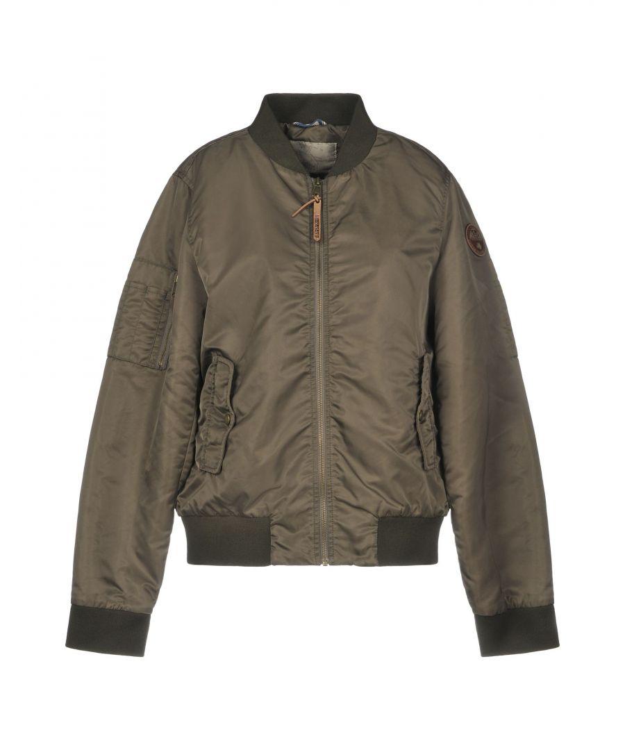 Image for Napapijri Dark Brown Techno Fabric Bomber Jacket