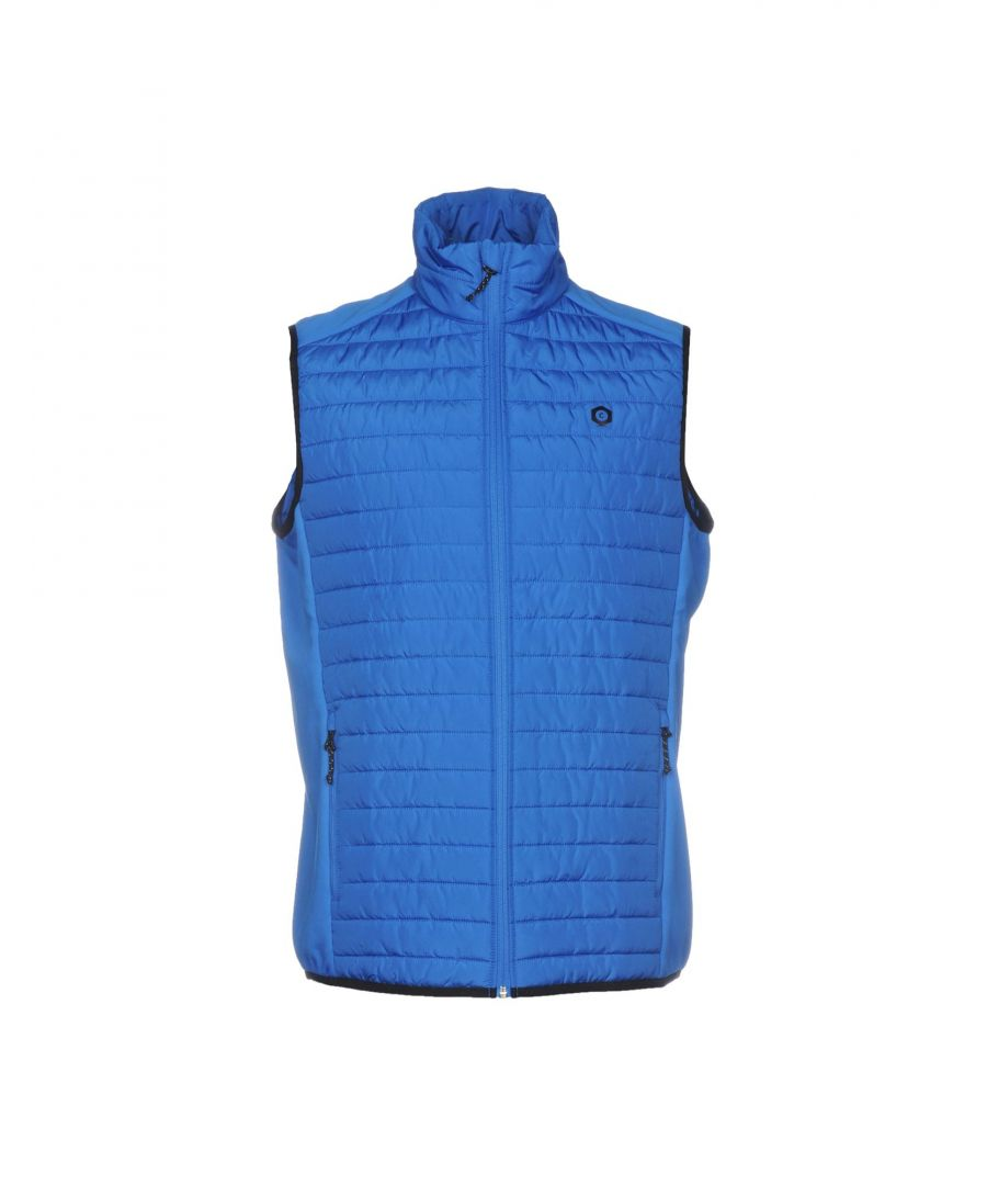 Image for Jack & Jones Blue Techno Fabric Quilted Gilet