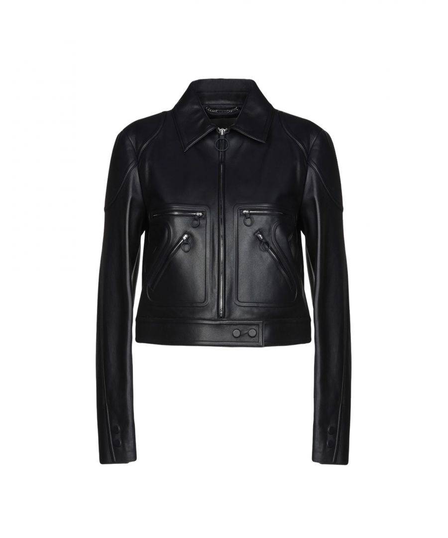 Image for Versace Dark Blue Leather Jacket