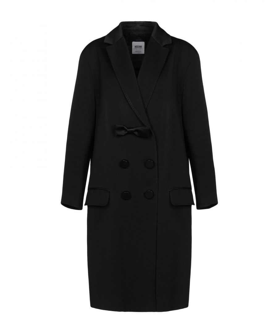 Image for Moschino Cheap And Chic Black Wool Double Breasted Coat