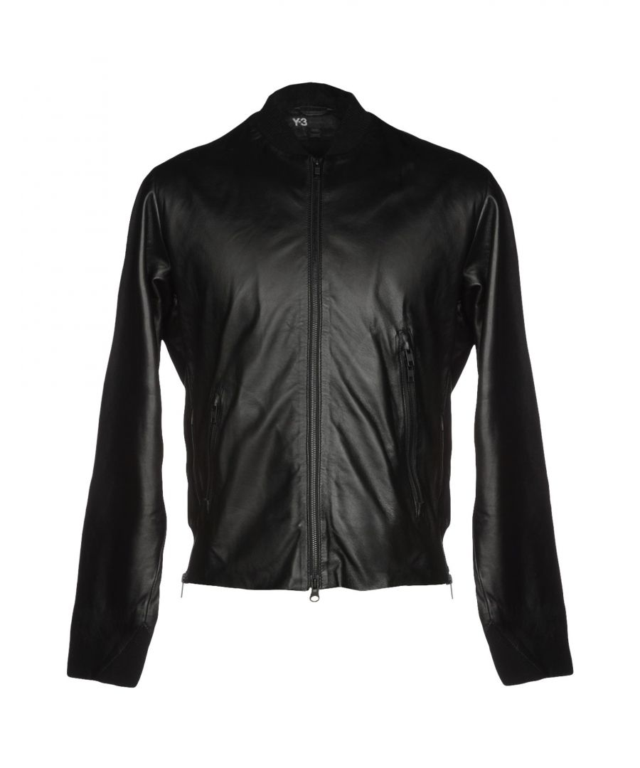 Image for Y-3 Black Lambskin Leather Jacket