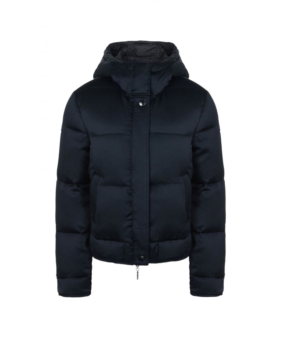 Image for Armani Jeans Dark Blue Techno Fabric Padded Jacket