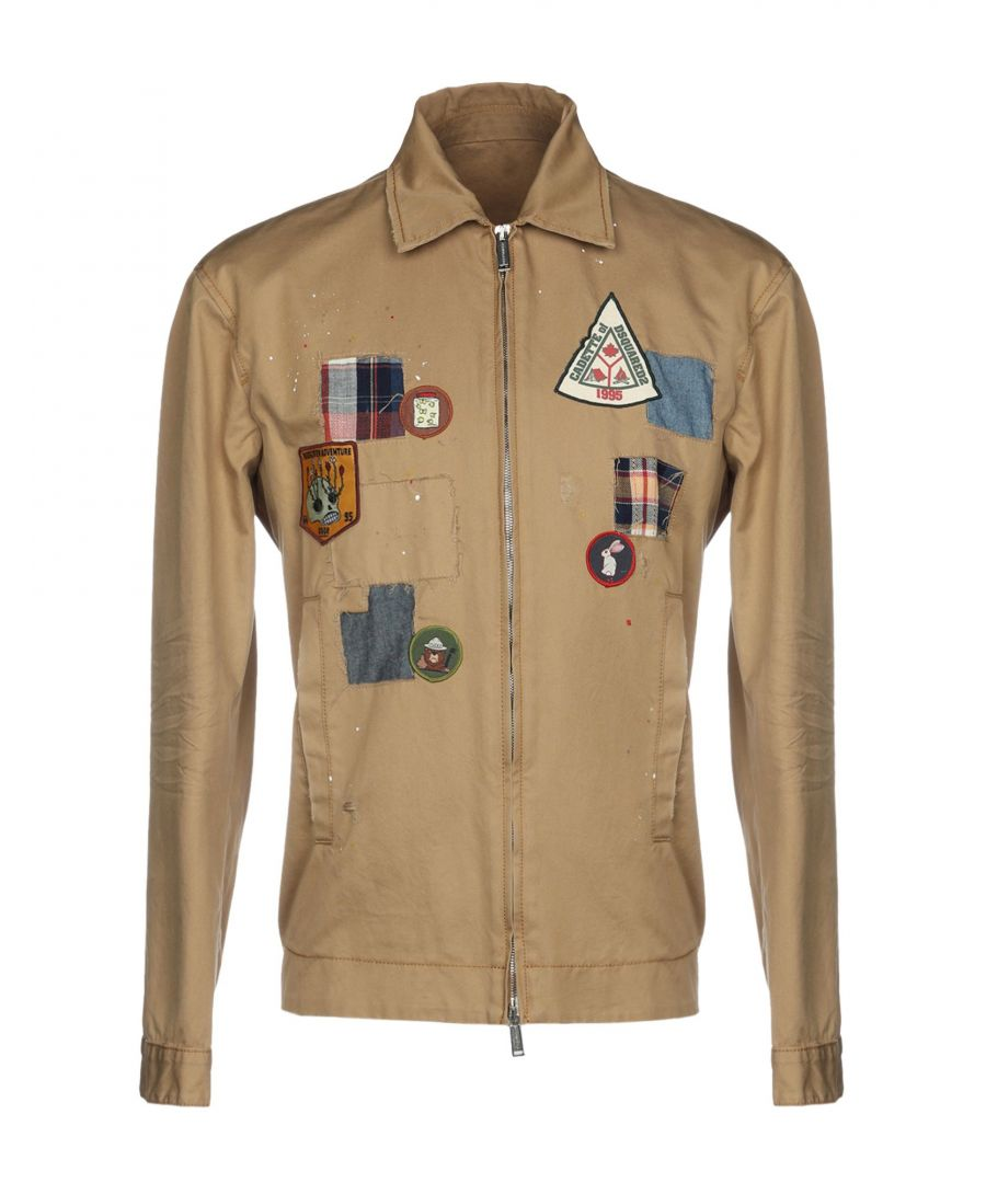 Image for Dsquared2 Camel Cotton Embellished Jacket