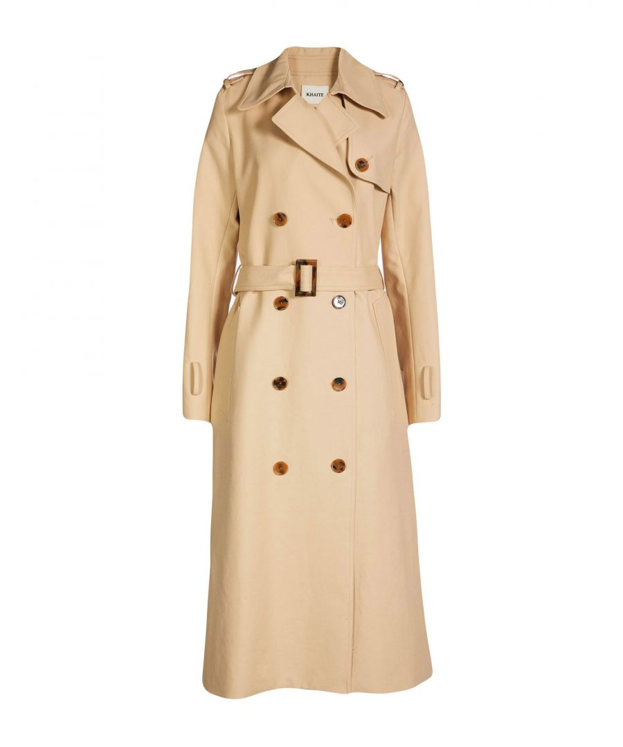 Image for Khaite Beige Cotton Trenchcoat