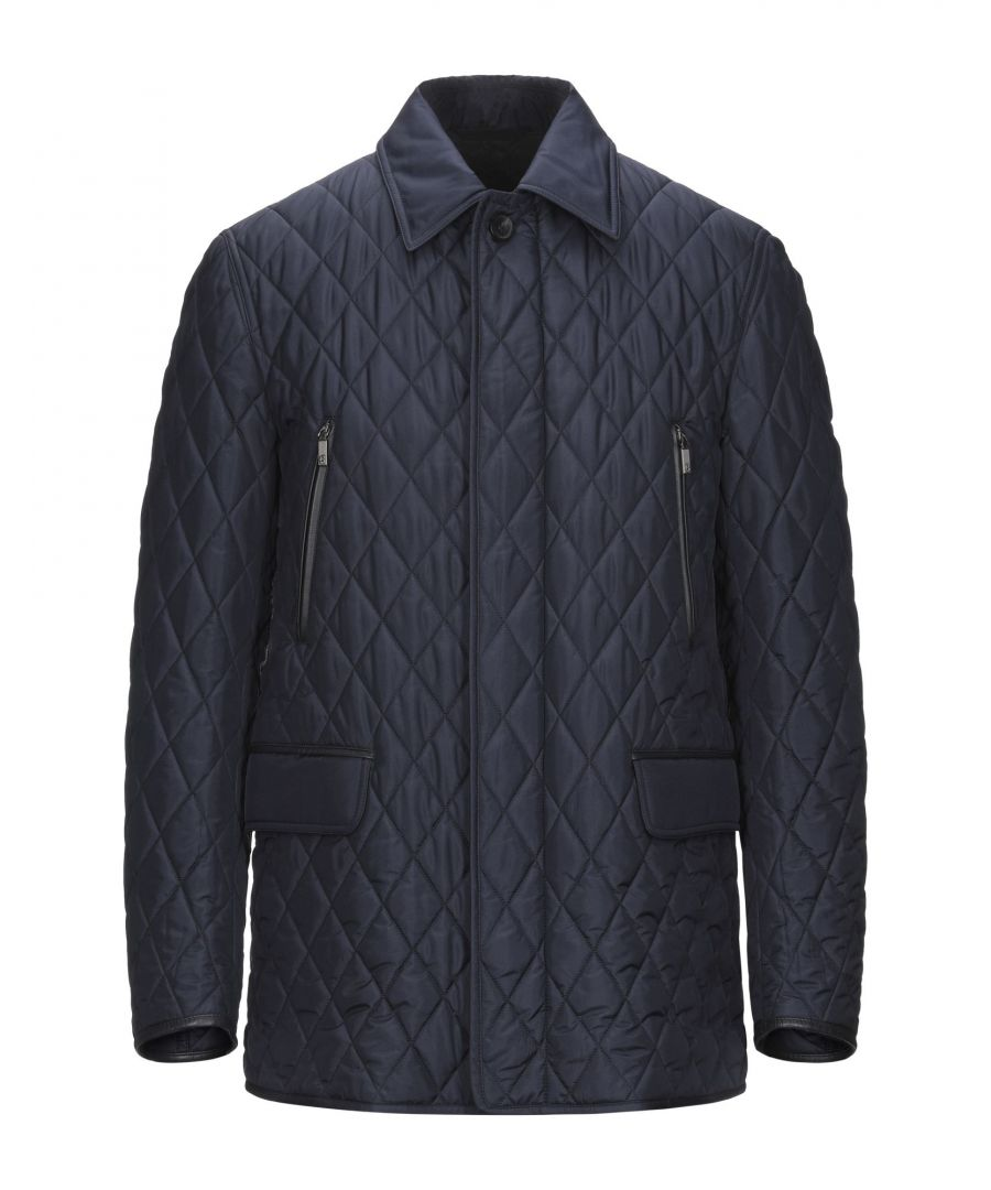 Image for Brioni Dark Blue Silk Quilted Jacket