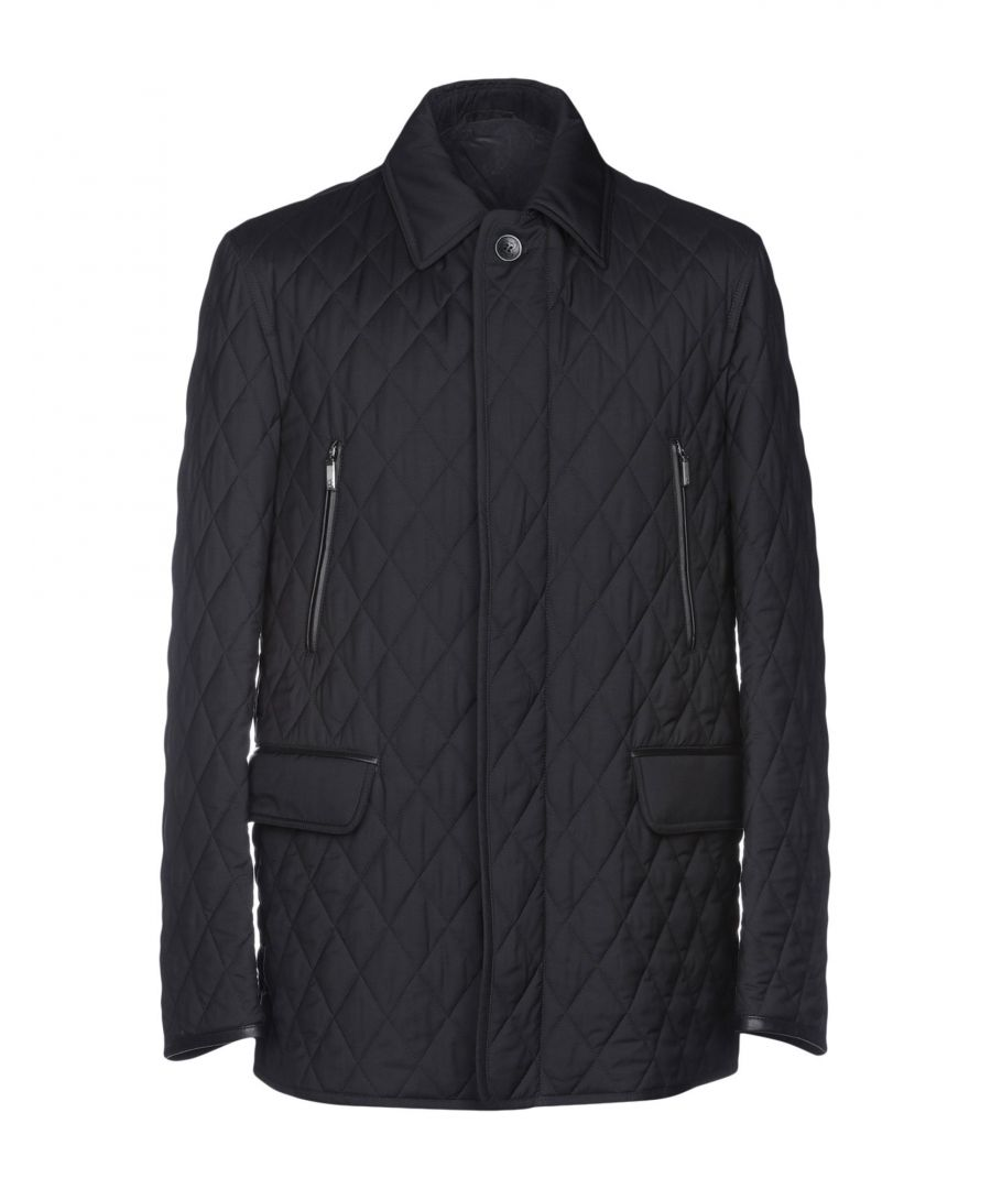 Image for Brioni Black Wool Quilted Jacket