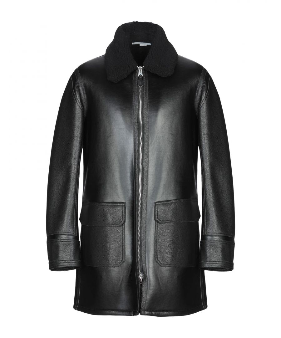 Image for Stella McCartney Men Black Faux Leather Jacket