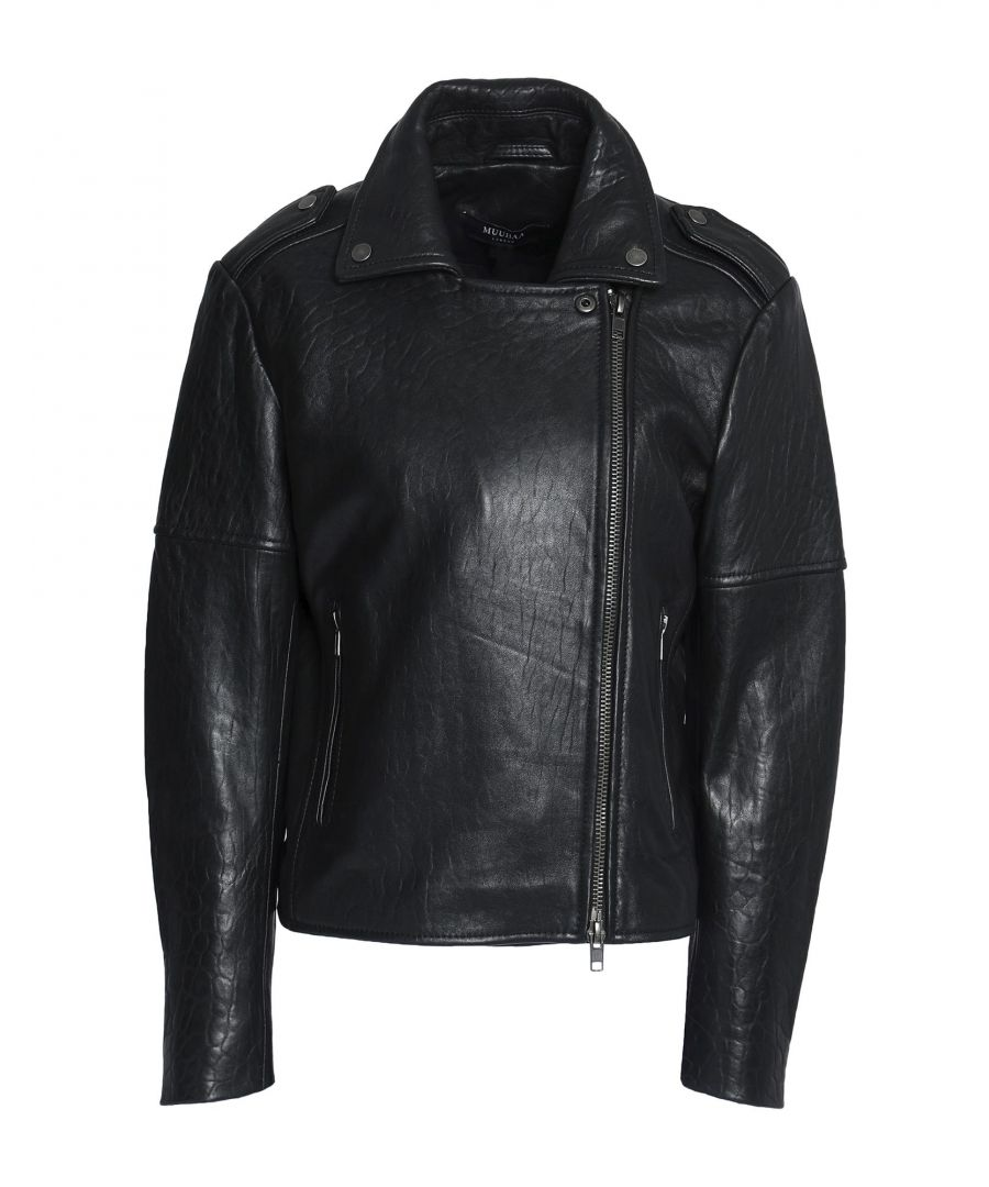 Image for Muubaa Black Sheepskin Leather Jacket