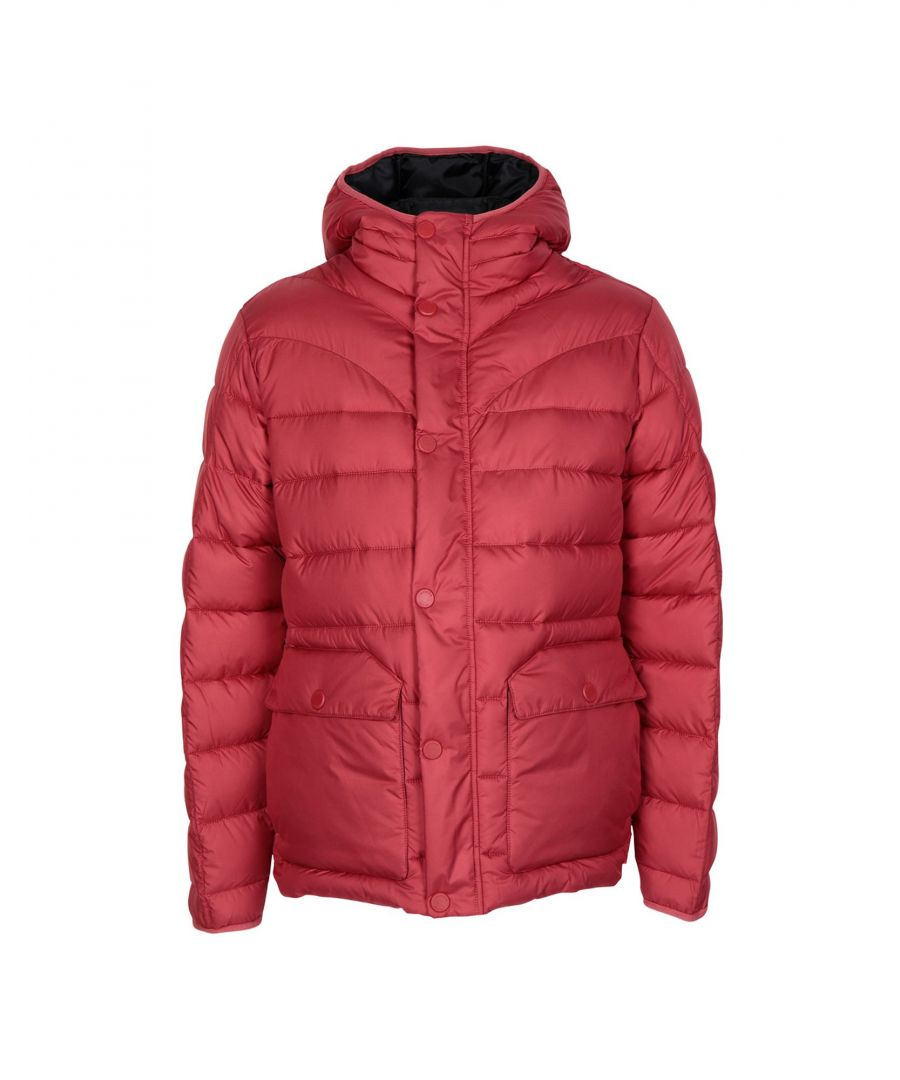 Image for Hunter Brick Red Techno Fabric Padded Jacket