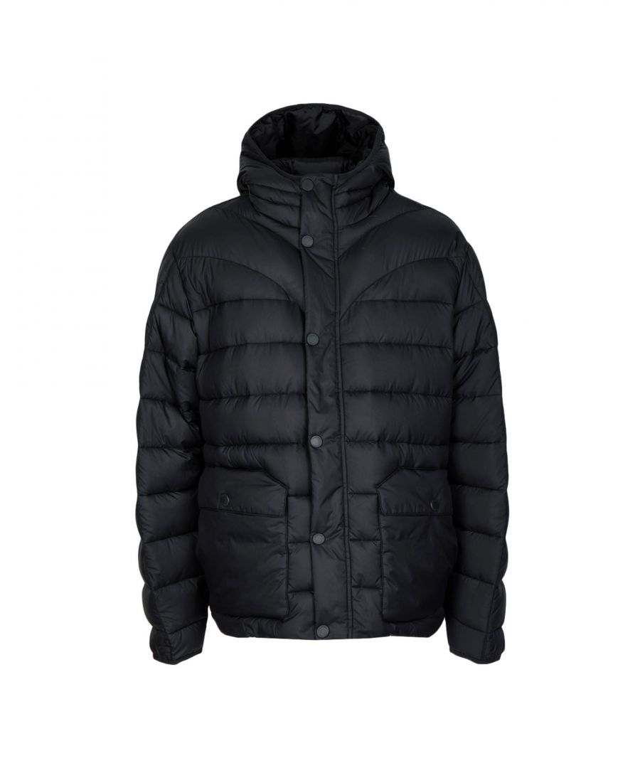 Image for Hunter Black Techno Fabric Padded Jacket