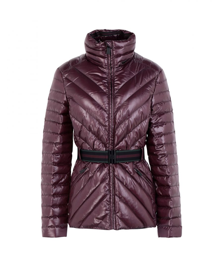 Image for Hunter Deep Purple Techno Fabric Belted Padded Jacket