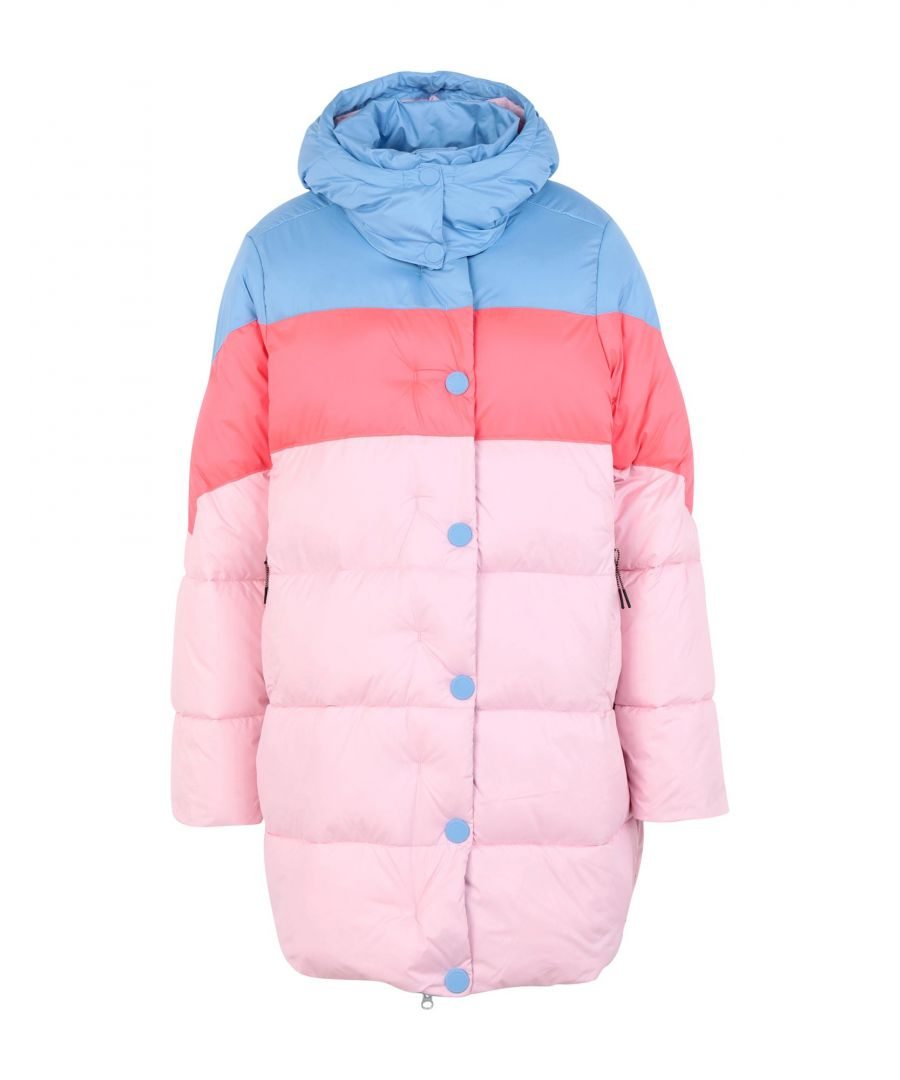 Image for Hunter Pink Stripe Techno Fabric Padded Coat