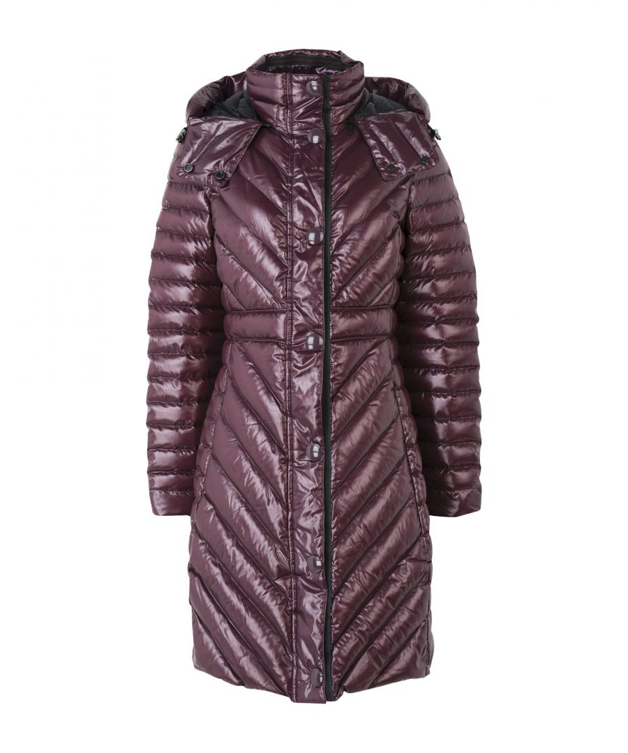 Image for Hunter Deep Purple Techno Fabric Padded Coat