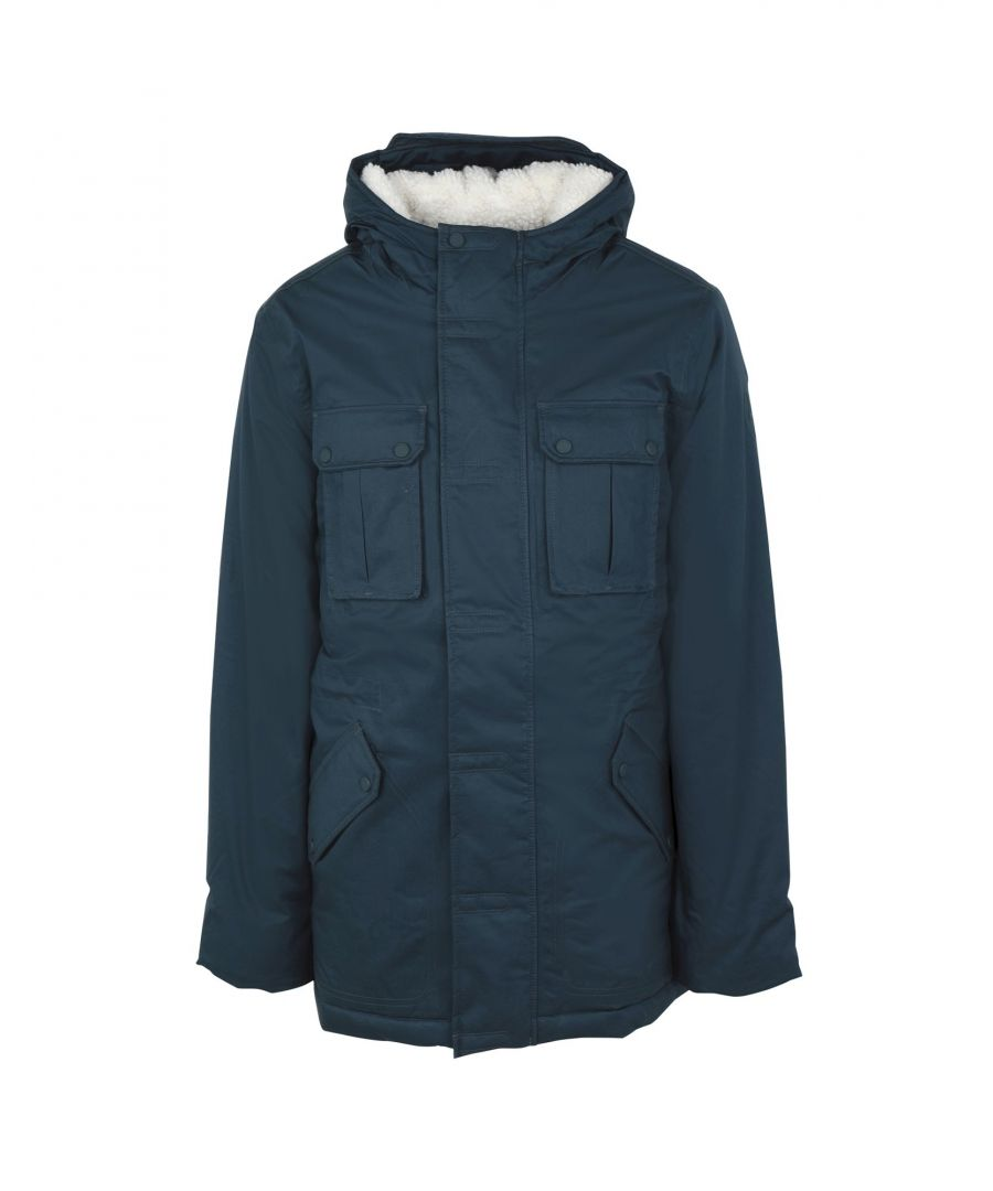 Image for Hunter Slate Blue Cotton Parka Coat