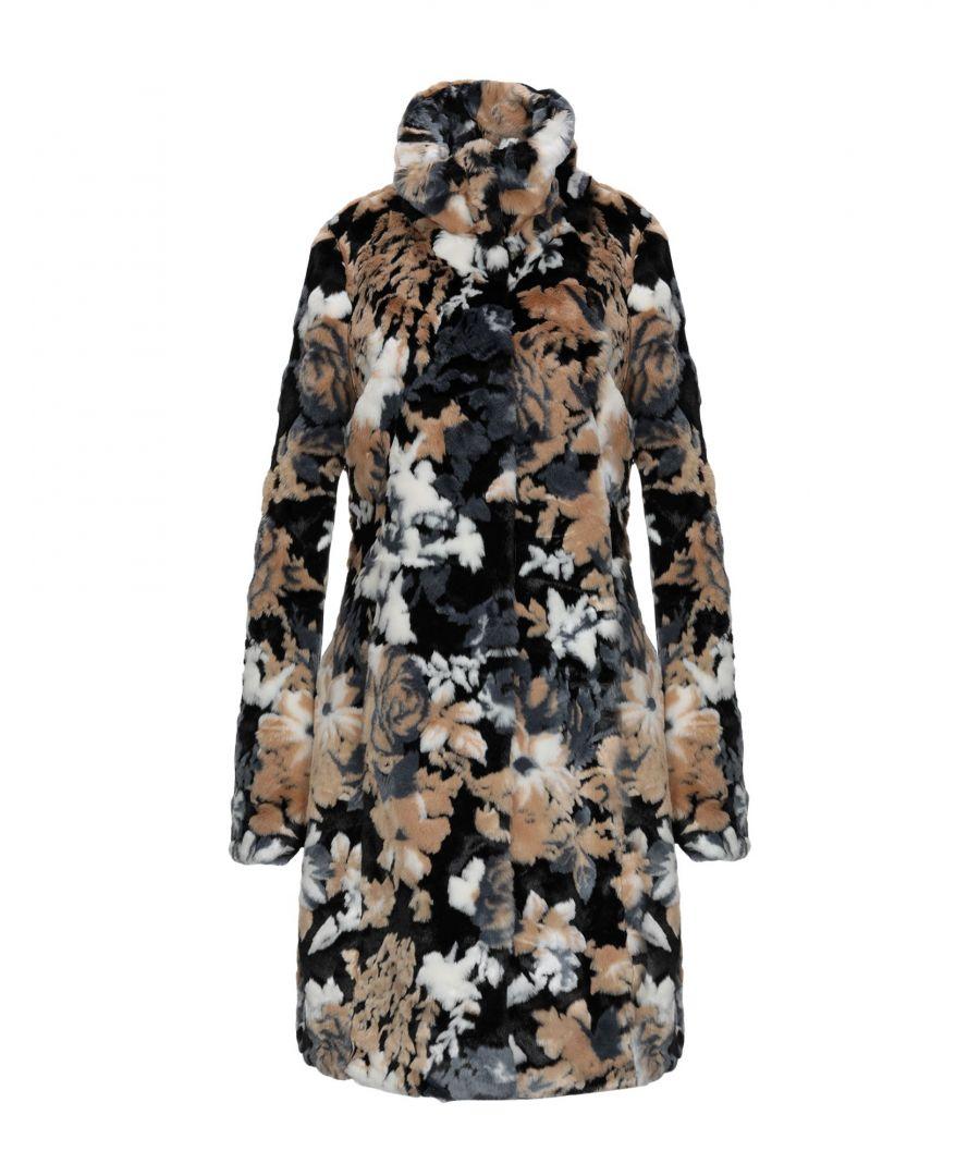 Image for Patrizia Pepe Camel Print Faux Fur Coat