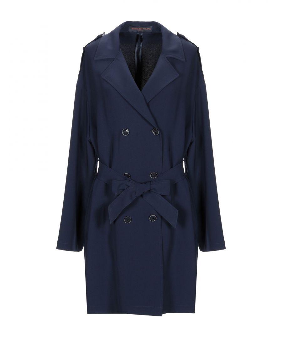 Image for Trussardi Jeans Dark Blue Belted Trenchcoat