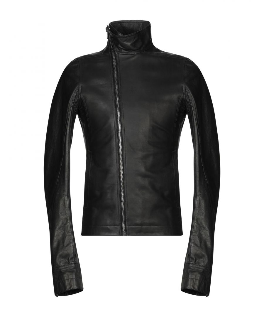 Image for Rick Owens Black Calf Leather Jacket