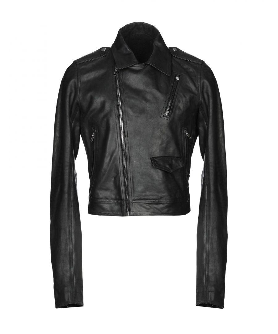 Image for COATS & JACKETS Man Rick Owens Black Horse leather
