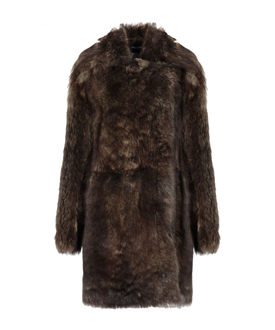 Image for Rochas Khaki Sheepskin Coat