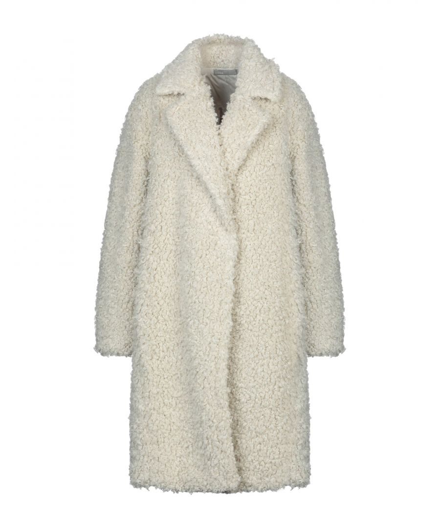 Image for Vince. Ivory Faux Fur Coat