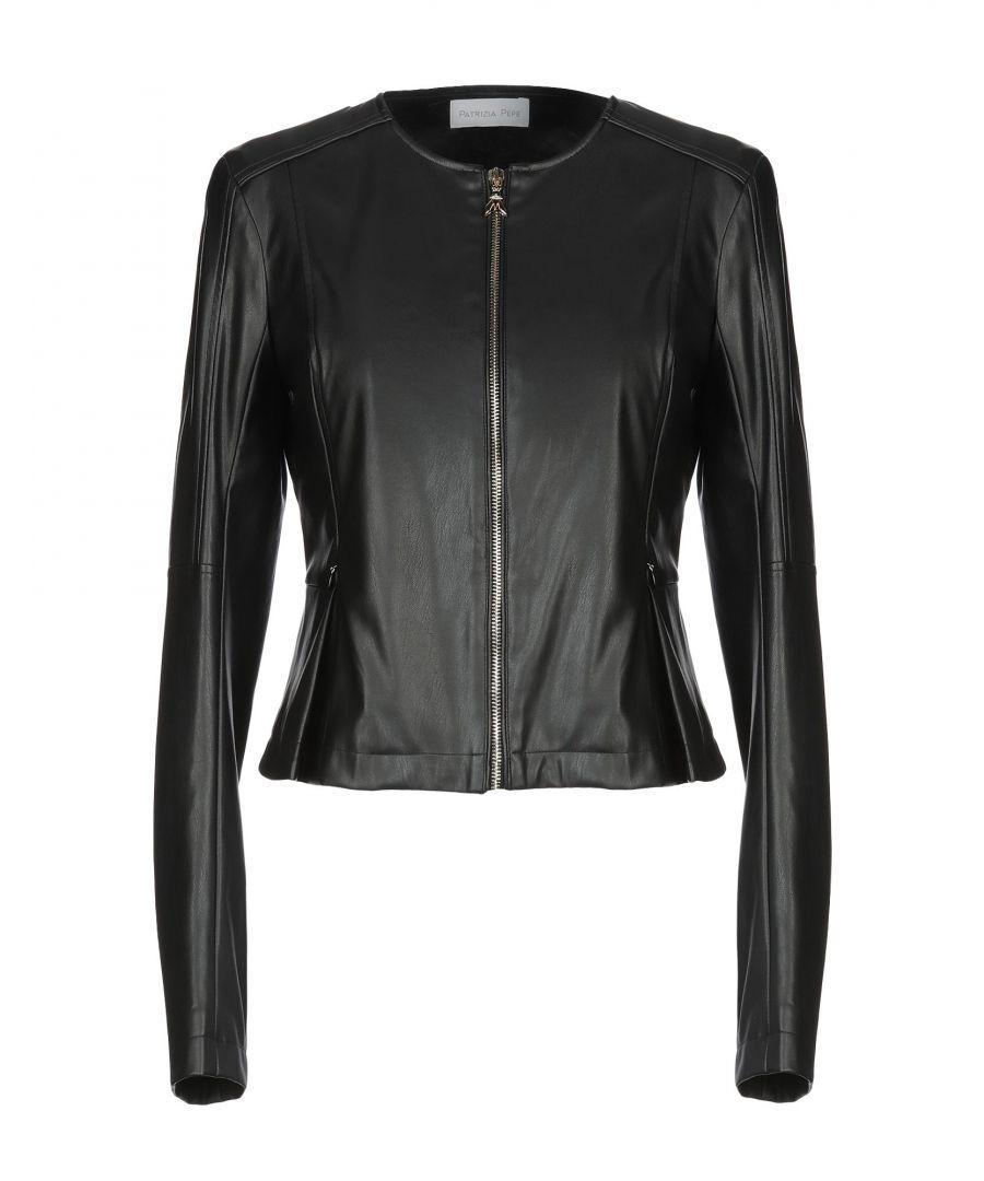 Image for Patrizia Pepe Black Faux Leather Jacket