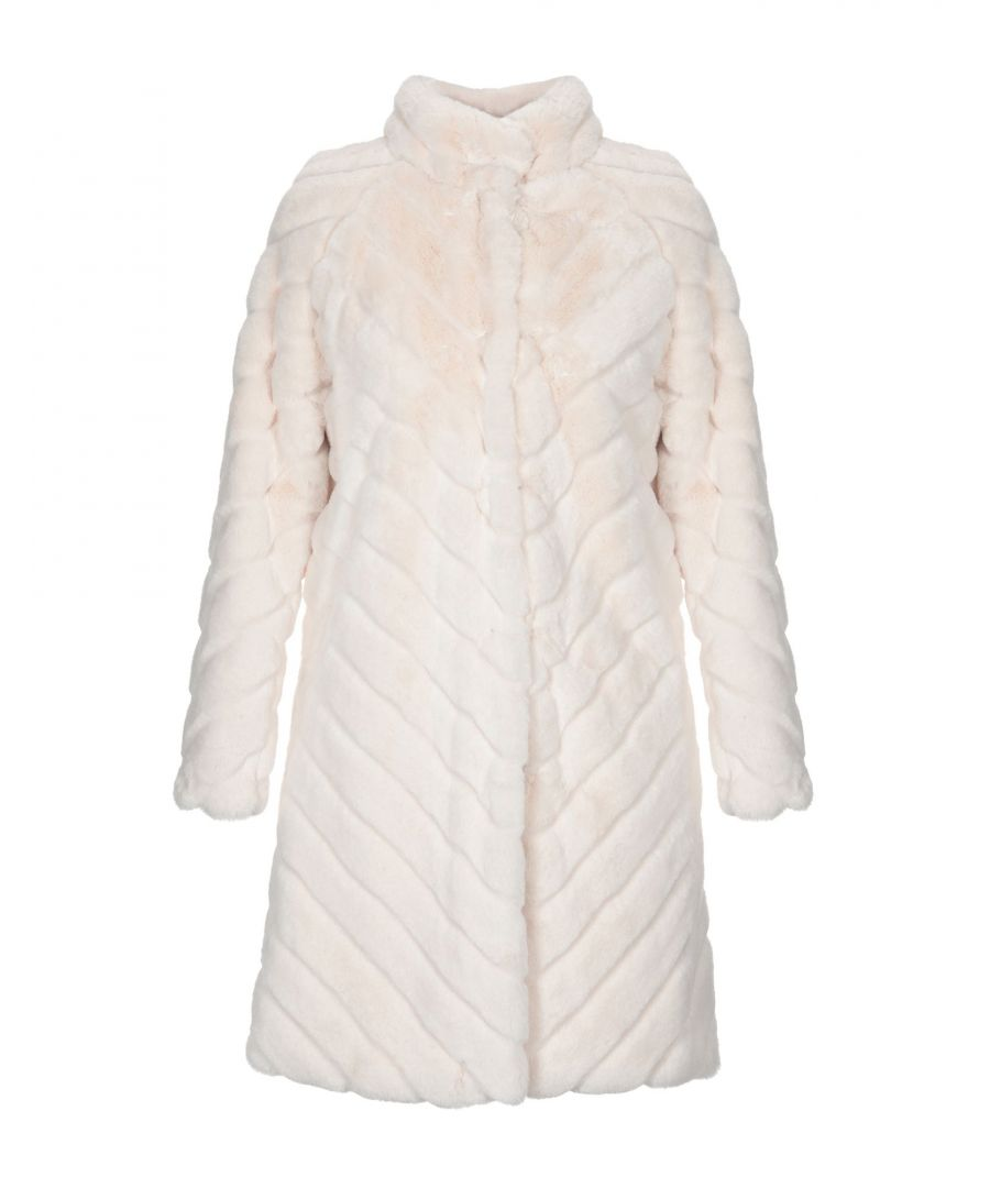 Image for Twinset Ivory Faux Fur Coat