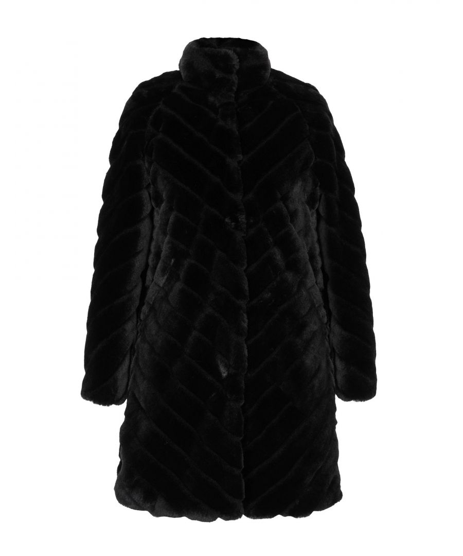 Image for Twinset Black Faux Fur Jacket