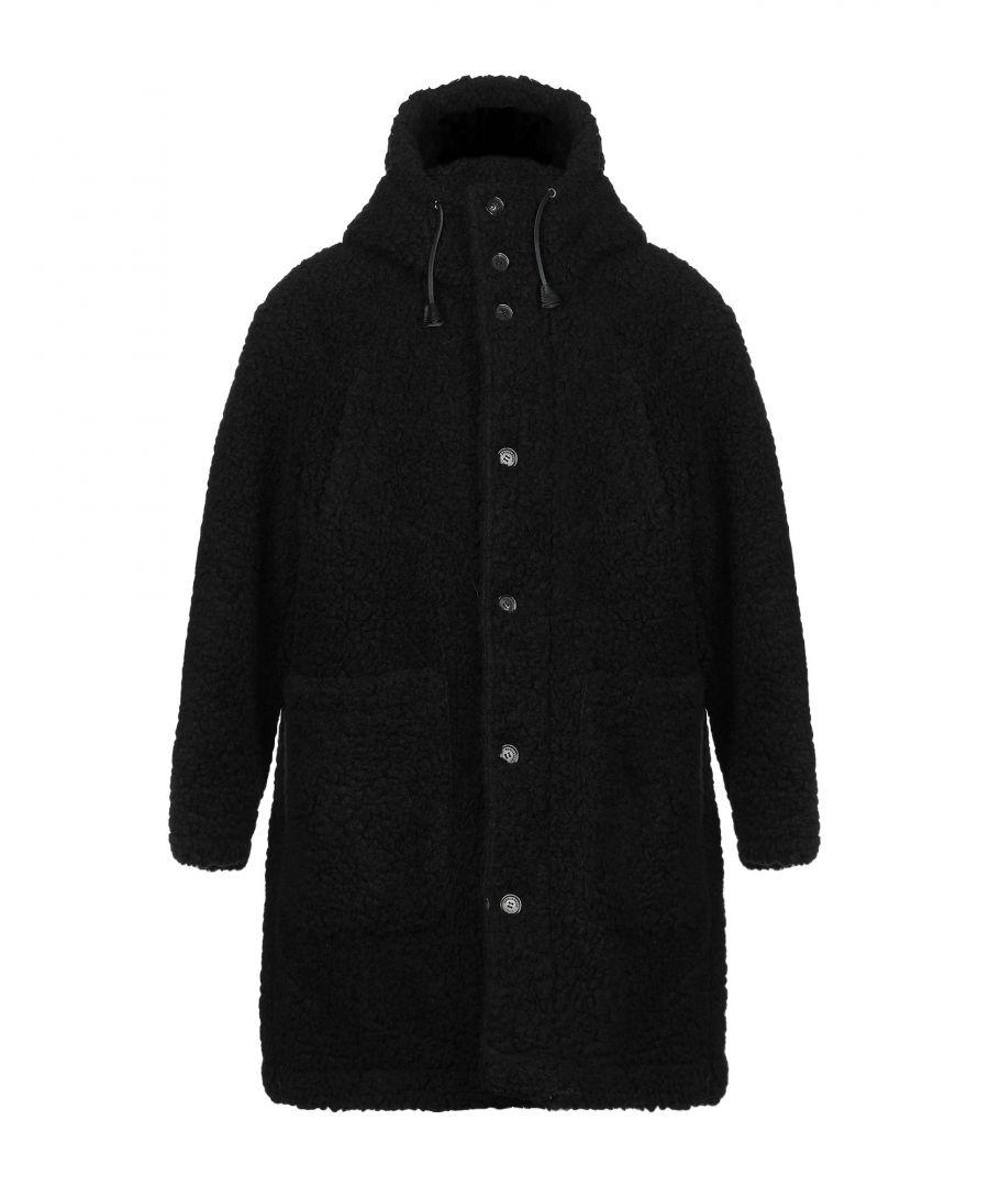 Image for Dsquared2 Black Faux Fur Coat