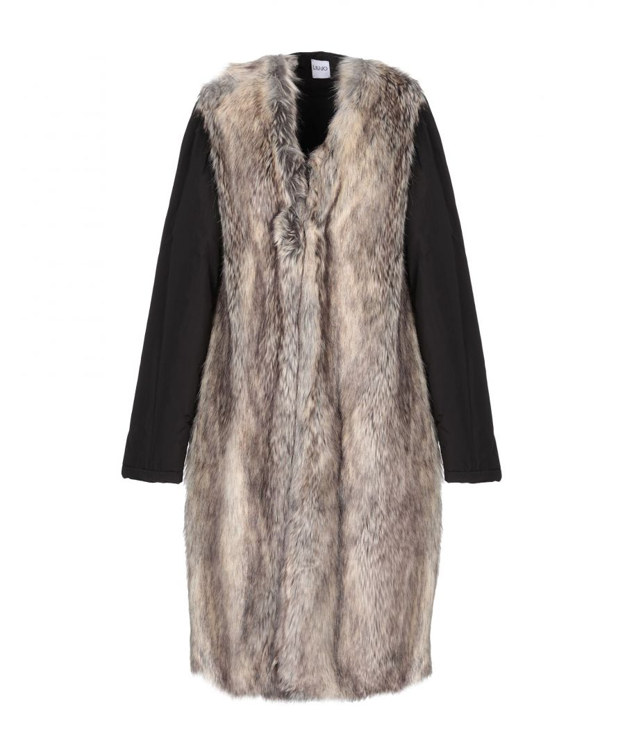 Image for Liu Jo Beige Faux Fur Coat
