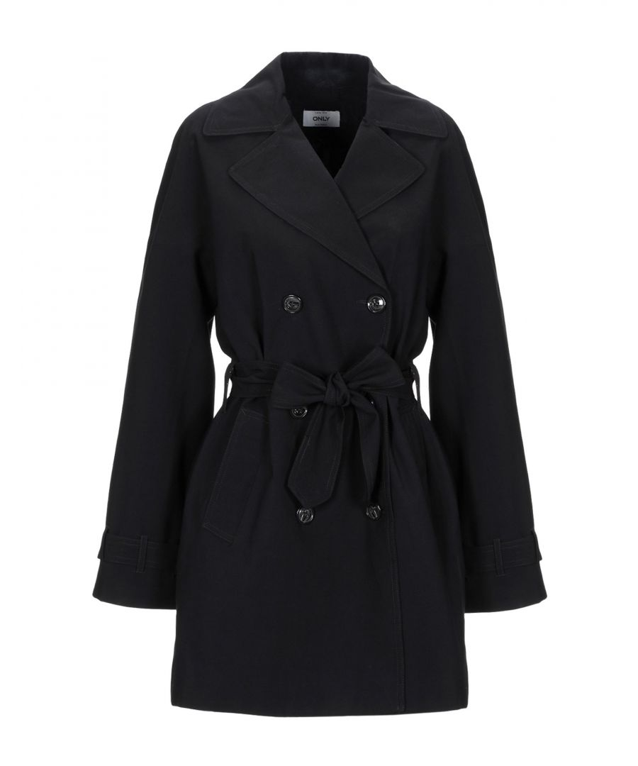 Image for Only Black Belted Double Breasted Coat