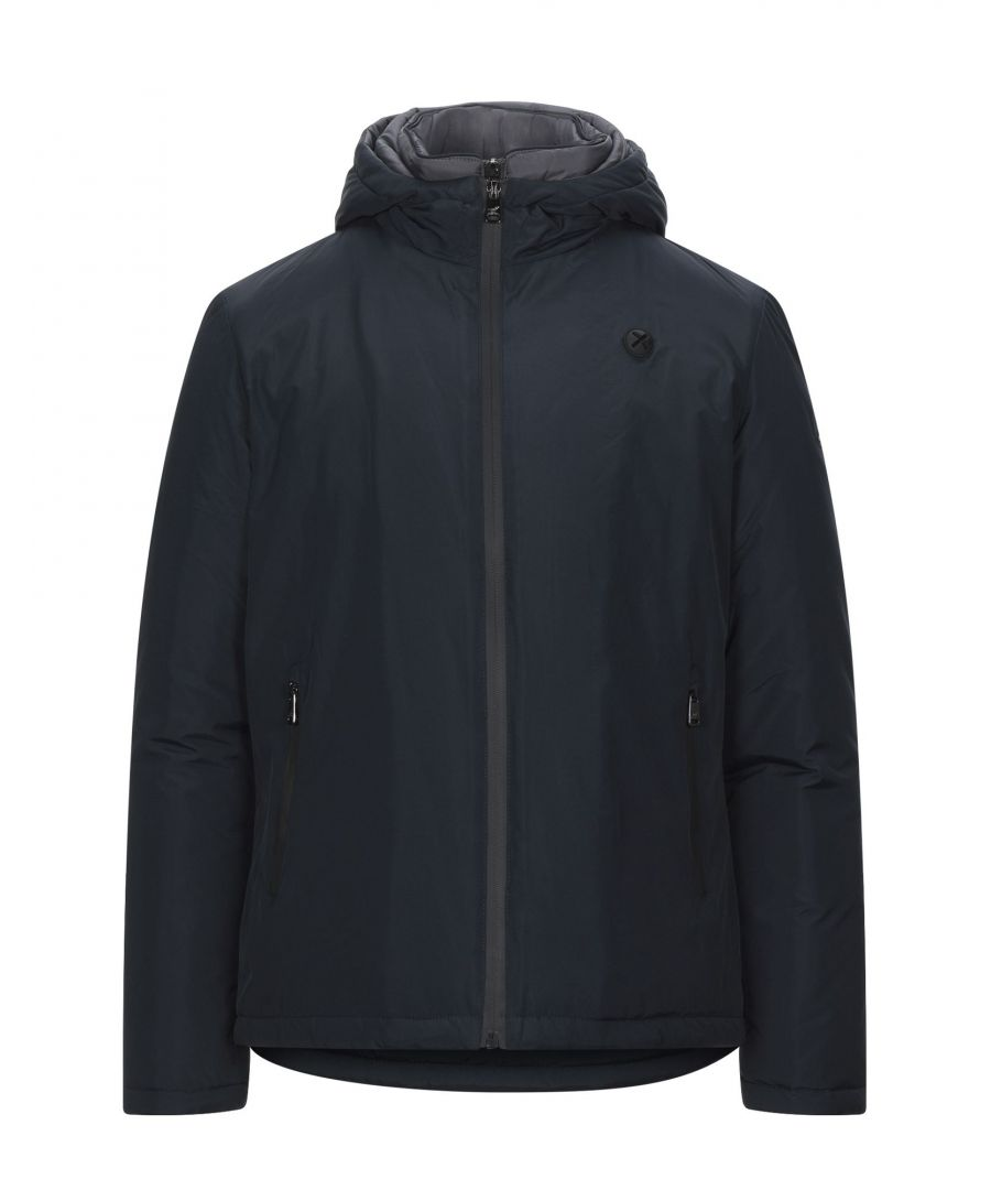 Image for Henry Cotton's Dark Blue Techno Fabric Padded Jacket