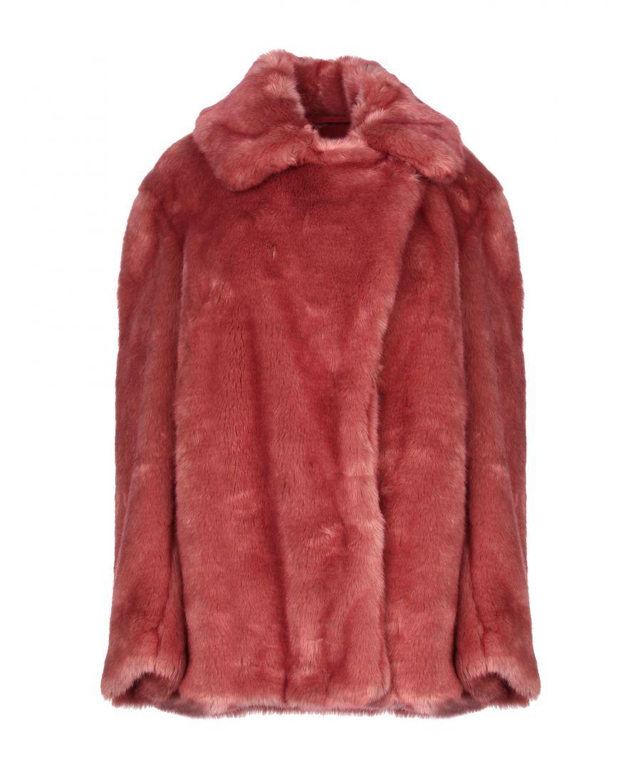 Image for Dondup Pastel Pink Faux Fur Jacket