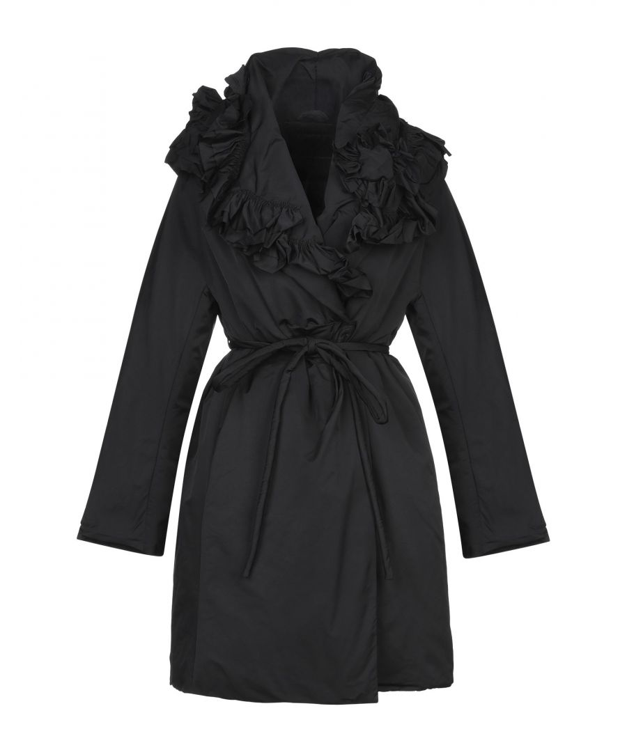 Image for Ermanno Scervino Black Taffeta Belted Coat